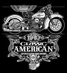 6c86d8c79 Harley-Davidson Knucklehead Harley Davidson T Shirts, Harley Davidson  Knucklehead, Harley Davidson Art