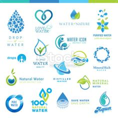 Illustration about Set of vector icons for water. Illustration of food, graphic, business - 32354505 Water Drop Logo, Water Logo, Art Design, Logo Design, Design Elements, Design Ideas, Water Icon, Natural Mineral Water, Water Abstract