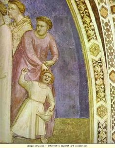 Giotto. The Renunciation of Worldly Goods. Detail. c.1320s. Fresco. Santa Croce, Bardi Chapel, Florence, Italy.