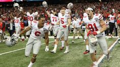 Ohio State Buckeyes wide receiver Evan Spencer (6) and his teammates react after the 2015 Sugar Bowl... - Derick E. Hingle-USA TODAY Sports