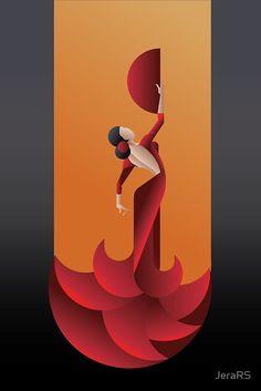Art deco illustration - art deco geometric styled spain flamenco dancer poster by jera rs Art Deco Illustration, Illustration Styles, Creative Illustration, Poster Art, Art Deco Posters, Diy Poster, Art Deco Artwork, Art Deco Paintings, Art Deco Artists