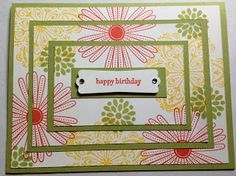 Stampin' Up! Mixed Bunch Stamp Set Triple Layer Card