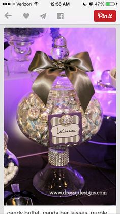 Candy jar bling and label idea