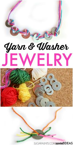 Yarn Fine Motor Jewelry Craft