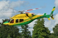 Bell 429 rescue helicopter, Devizes, UK, Photo : André Bour