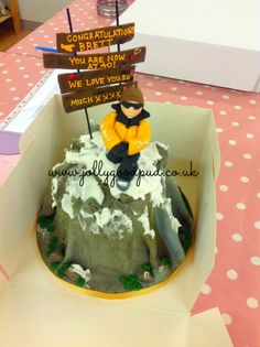 mountain climbing cake from The Jolly Good Pud Company. www.jollygoodpud.co.uk