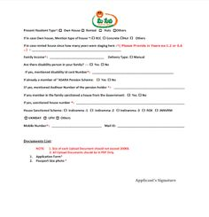 Download Double Bed Room House Application Form - 2BHK Application Form