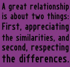 A great relationship...