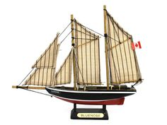 Wooden Bluenose Model Decorative Sailboat