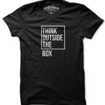 THINK OUTSIDE THE BOX by arquebus clothing - could be fun to recreate this idea with t-shirts and phrases/word puzzles - they can pick one and design their own shirt! Cool Tees, Cool Shirts, Funny Shirts, Tee Shirts, Creative Shirts, Printed Shirts, T Shirt Designs, Boxing T Shirts, Statement Tees