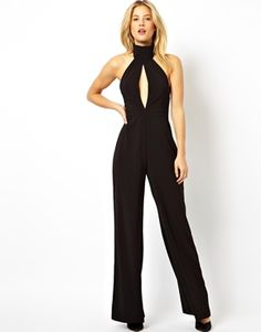 AQ AQ Halterneck Jumpsuit With Open Front