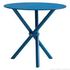 Mesa Britto com Tampo de Vidro Azul - Urbe Móveis  A = 76 cm L = 80 cm P = 80 cm R$ 445