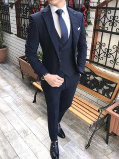 Piomo All Black Tuxedo (Wedding Special) – MenSuitsPage All Black Tuxedo, Black Tuxedo Wedding, Black Suit Men, Tuxedo For Men, Black Suit Groom, Formal Tuxedo, Navy Blue Suit, Formal Suits, Wedding Suit Styles