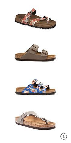 All about boho. The hottest Birkenstocks of Summer 2015 are softly suede or flushed in floral. Available today on SHOES.com.