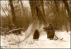 Winter, Apsaroke (Crow), 1908.  Photo by Edward S. Curtis