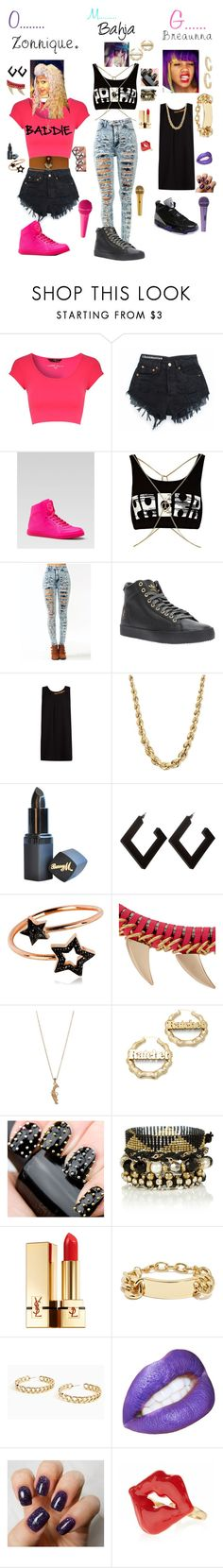 """"""""""" by babiegurlduce ❤ liked on Polyvore featuring Jane Norman, Gucci, Nicki Minaj, River Island, MANGO, Barry M, PERLOTA, Style Tryst, Melody Ehsani and Yves Saint Laurent"""