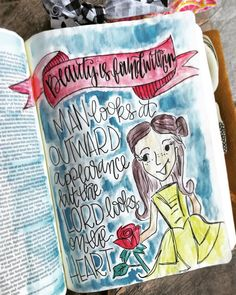 """109 Likes, 10 Comments - Ali Haynes (@alicatcreates) on Instagram: """"Man looks at outward appearance but the Lord looks on the heart. 1 Samuel 16:7  #biblejournaling…"""""""