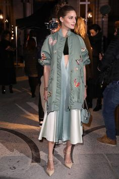 Olivia Palermo attends the Valentino Haute Couture Spring Summer 2018 show as part of Paris Fashion Week on January 24 2018 in Paris France