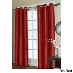 Jaclyn Love Faux Silk 84-inch Curtain Panel Pair | Overstock.com