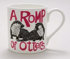 (JM05) A Romp of Otters Mug - Perkins and Morley - Designers