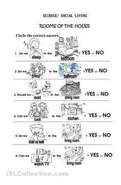 house worksheets | Rooms of the House worksheet - Free ESL printable worksheets made by ...