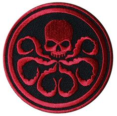 Captain America Hydra/Red Skull Red Embroidered Movie aufnaher Patch