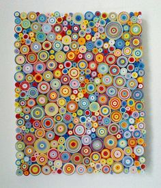 Abstract multi coloured 'quilling' canvas by Stedmancollection