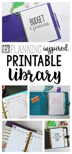Planning Inspired Printable Library - get access to ALL of my printables + all future updates & new designs!
