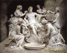 """Francios Girardon: """"Apollo and the Nymphs."""""""