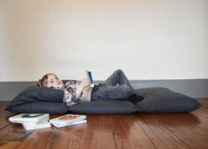 The Scout Foldaway Camp Bed: Duck canvas in Charcoal.. , via Etsy.
