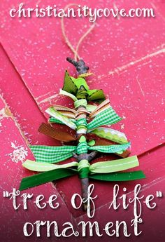 Making a tree ornament craft in honor of St. Stephen will give you something nice to do with your left-over Christmas craft ribbon. It will also allow you to talk about heroics for Christ!