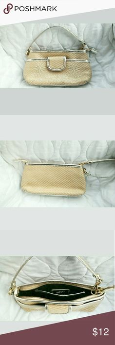 Small Ann Taylor Handbag Small Ann Taylor handbag. Excellent condition!So cute to wear on a night out! The pouch is large enough to fit a phone, some cash/cards and a lipstick, and it's in really great condition! :) Ann Taylor Bags Clutches & Wristlets