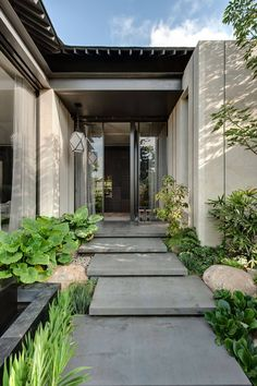 Concrete slab steps Contemporary Home by Eran Binderman & Rama Dotan | HomeAdore