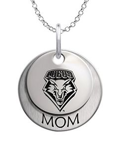 New Mexico Lobos Jewelry | Stacked MOM Necklace -- Check out this great product.