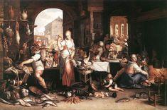 Joachim Wtewael - Kitchen Scene, 1605