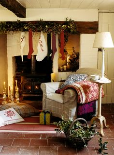 Create a warm, welcoming Christmas fireplace this winter with these simple but effective decorating ideas.