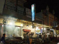 Karachi Eating Out: Sheikh Abdul Ghaffar Kabab House, near Tariq Road Kabab House, Seekh Kebabs, Desi Food, Pakistan, Food Travel, Top, Crop Shirt, Shirts