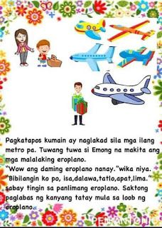 Teacher Fun Files: DIY Big Book: Ang Eroplano ni Tatay Moral Stories For Kids, Short Stories For Kids, Kids Story Books, Reading Comprehension For Kids, Reading Passages, Tree Bookshelf, Tagalog, Picture Cards, Kindergarten Teachers