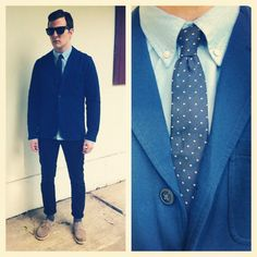 @jonnydhughes sporting a @ClubMonaco cotton blazer and blue oxford shirt. #YouBoughtIt