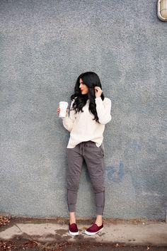 cream sweater from gap