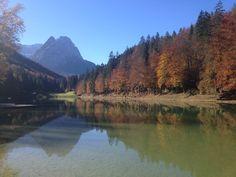 Bayern, Garmisch-Partenkirchen, Riessersee, Herbst - Bavaria, Garmisch-Partenkirchen, Riessersee, autumn  www.riessersee.com