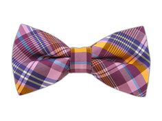 Zenith Plaid - Pinks (Bow Ties) - Zenith Plaid - Pinks (Bow Ties)