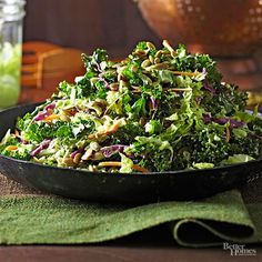 Quick, easy, healthy, and pretty – there's so much to love about these salads! Try making winter slaw with kale and cabbage, harvest slaw, holiday kale salad, and more! Toss one up for your next holiday gathering, and hear the compliments roll in.