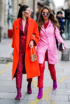 Resultado de imagen de RED AND PINK TREND FOR FALL 2018 Ç