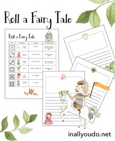 Do your kids love fairy tales? Now they can create their own with the Roll a Fairy Tale Printable Pack. Children can use the prefilled page or create their own and then roll the dice to get started. It is a fun, and easy way to encourage them in creative writing. #creativewriting #homeschooling #homeschoolers #iaydhomeschoolers Creative Activities, Activities For Kids, Roll A Story, Love Fairy, Science Projects, Creative Writing, Dice, Homeschooling, Free Printables
