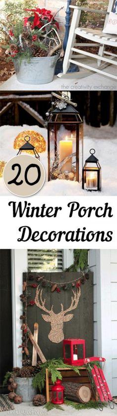 Winter porch, winter porch decorations, popular pin, DIY winter, winter porch, Christmas decor, DIY Christmas decor, DIY porch decor, porch and patio decor
