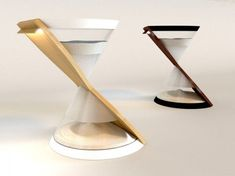 Danielle Trofe's LED Hourglass Lamps Are Powered by Falling Sand