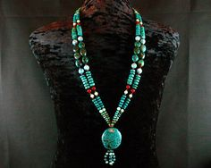 Turquoise Necklace Native American Jewelry by ByDivineCollectibles, $165.00