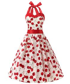 Dresstells, Version3.0 Vintage 1950's Audrey Hepburn pin-up robe de soirée cocktail, style halter années 50 à pois: Amazon.fr: Vêtements et accessoires
