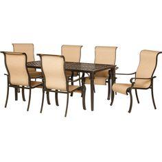 Hanover Brigantine 7 Piece Outdoor Dining Set & Reviews | Wayfair
